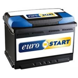 Batteria Eurostart 74Ah 680A spunto Positivo DX (+DX)
