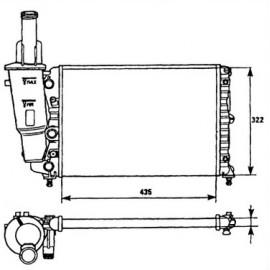 Radiatore motore Punto 55, Lancia Y senza AC