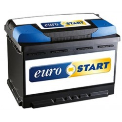 Batteria Eurostart 62Ah 540A spunto Positivo DX (+DX)