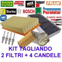 Kit Tagliando 2 Filtri + Candele Fiat Seicento 1.1 187A1000