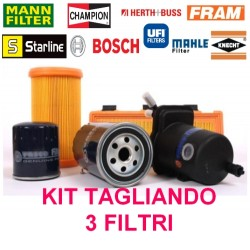 KIT tagliando 3 Filtri Ford Focus II 1.6 TDCI C-Max dopo il 2007