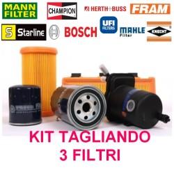 Kit Tagliando 3 Filtri (olio aria benzina) Fiat 600 Seicento 900