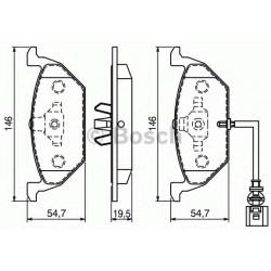 PASTICCHE PASTIGLIE FRENO A3/GOLF4 C/SPIA A13
