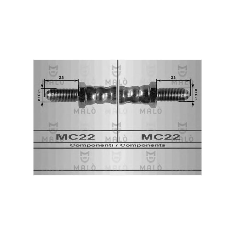 ALFETTA//GT 116 116 TUBO FRENO GIULIETTA ANTERIORE mm.370 MA 8283
