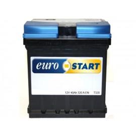 BATTERIA EUROSTART 40AH 320A SPUNTO POSITIVO DX (+DX) CUBETTO
