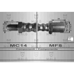 TUBO FRENO OM 40/50/80/90 ANTERIORE mm.437