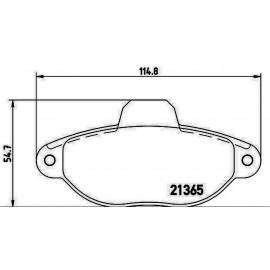 Kit Pastiglie freno Punto I serie, Lancia Y, Cinquecento, Seicento Open Parts BPA 0414.00