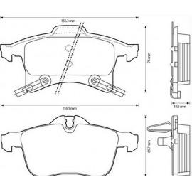 Kit Pastiglie freno anteriori Astra G, Zafira A e B - STARLINE BDS344