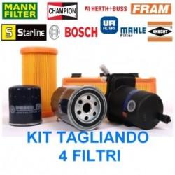KIT TAGLIANDO 4 FILTRI LANCIA LYBRA 1.9-2.4 JTD, ALFA 156 1.9JTD-2.4JTD