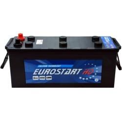 BATTERIA EUROSTART 120AH 680A SPUNTO POSITIVO DX (+DX) POLI VICINI