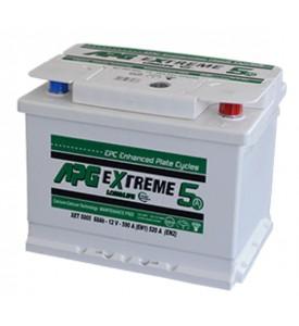 BATTERIA APG EXTREME5 MAX 55AH 530A SPUNTO POSITIVO DX (+DX)