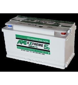 BATTERIA APG EXTREME5 MAX 105AH 900A SPUNTO POSITIVO DX (+DX)