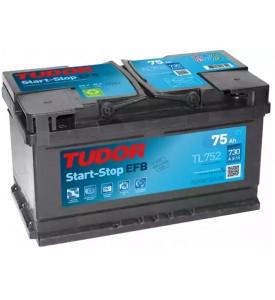 BATTERIA TUDOR TL752 START-STOP EFB 75AH 730A SPUNTO POSITIVO DX (+DX) BASSA