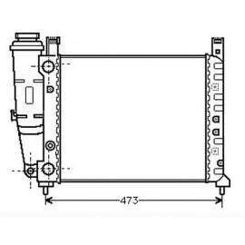 Radiatore motore Ritmo 65-70-75-85 1.3/1,5 dal '78 a '88 con Vaschetta