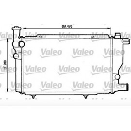 Radiatore motore Peugeot 205 GL/GR/XE