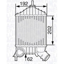Radiatore Intercooler Punto 1.9 Jtd