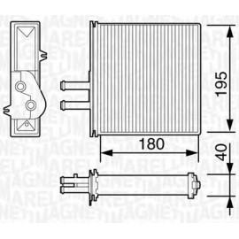 Radiatore Riscaldamento Punto, Barchetta, Lancia Y