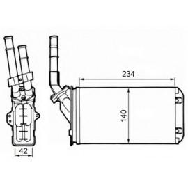 Radiatore Riscaldamento Citroen AX, Peugeot 106 I e II