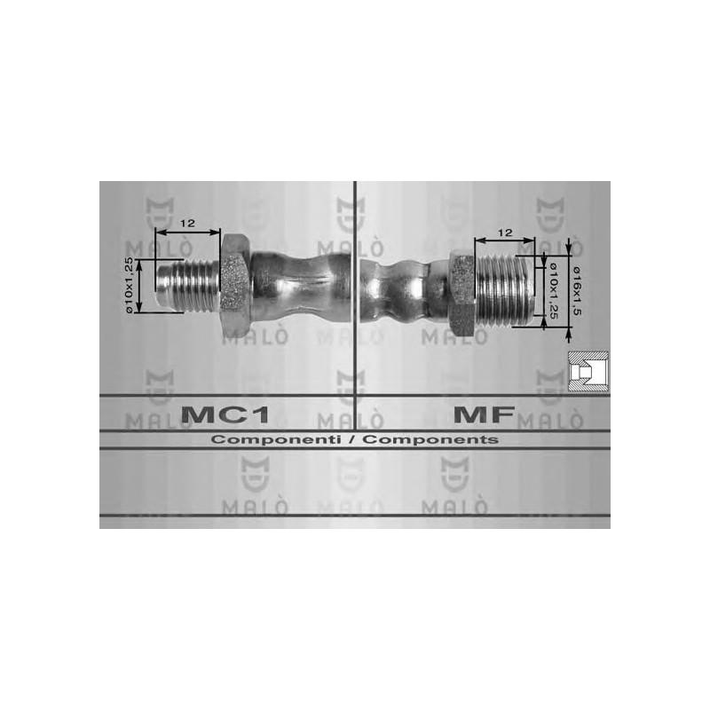 TUBO FRENO FULVIA I SERIE 65-69 POSTERIORE mm450 MA 8060